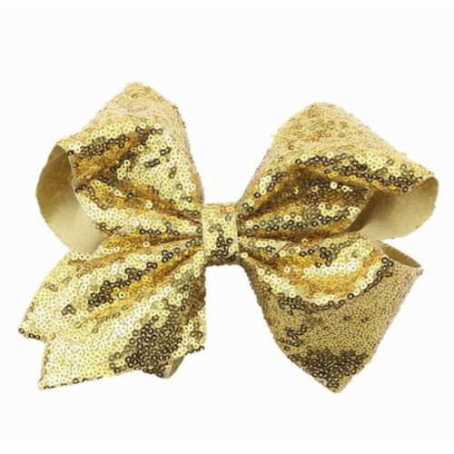 Big Glitter Sequin Large Hair Bow Alligator Clip Girl Boutique Hair Accessories