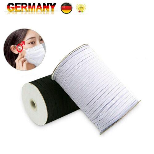 3//6mm Breit Elastisch Band Gummiband Gummikordel Wäschegummi Ersetzen Nähen DIY