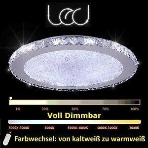 45w led dimmbar glas kristall kronleuchter deckenleuchte deckenlampe design ebay. Black Bedroom Furniture Sets. Home Design Ideas