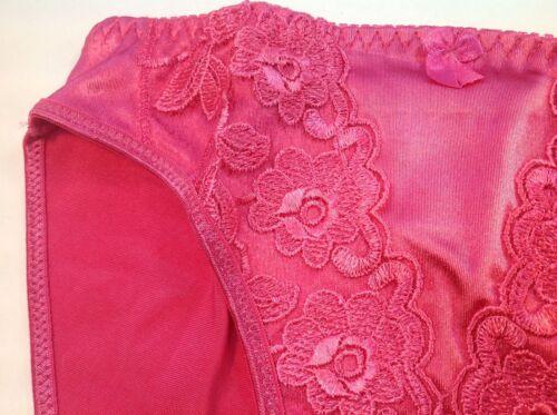 "Red Carmine Satin FloralW//decoration Women Panties,Bikinis/""Eva Cervantes/""Size M"