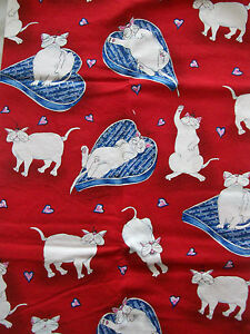 1a9c632f3bf36 Kitten Craft Quilt Fabric Catbury Kaufman Tail Snickers Bed Hog And ...