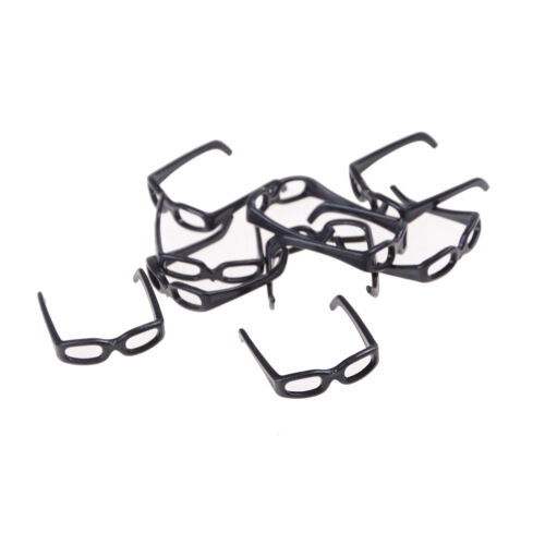 10pcs//set Fashion Doll Accessories Black Glasses For Doll BSCA