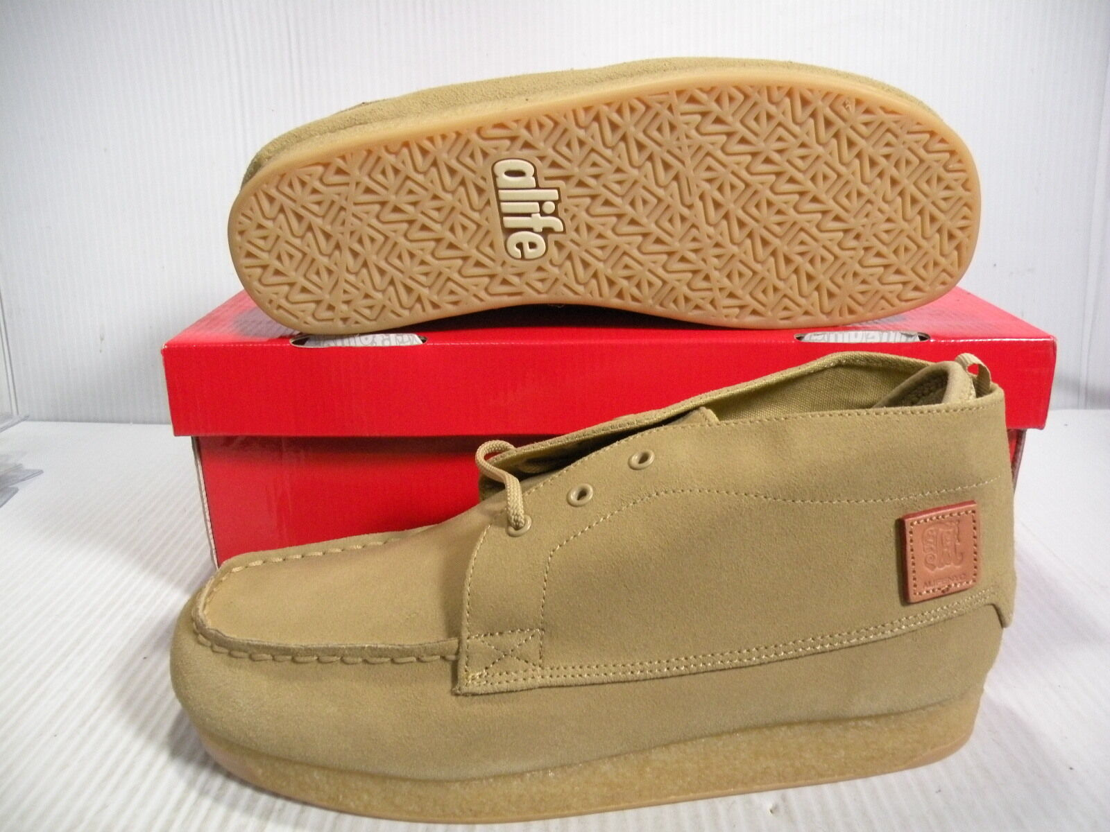ALIFE KENNEDY HIGH SUEDE SNEAKERS MEN SHOES SAND F92KHS1 SIZE 9.5 NEW