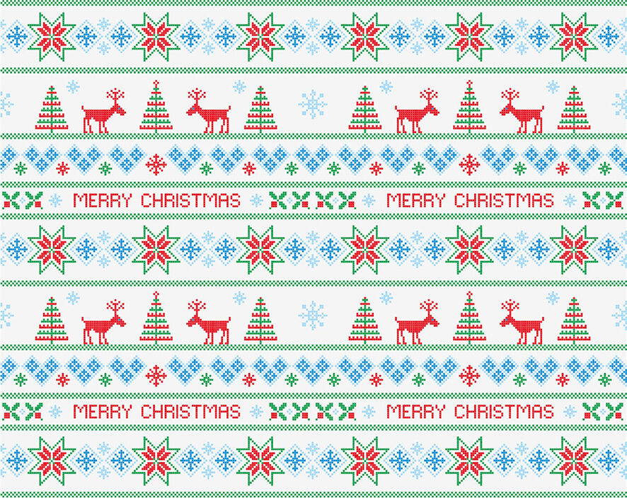 3D Texture Christmas tree Wall Paper Print Decal Wall Deco Wall Indoor Murals