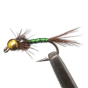 12 Pcs//pack Flies Glass Bead Black Beauty Wet Fly Fishing Size 14#16#18#20#