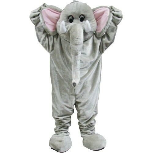 Deluxe Grau Elefant Maskottchen Coldplay Paradise Promi Erwachsene Kostüm
