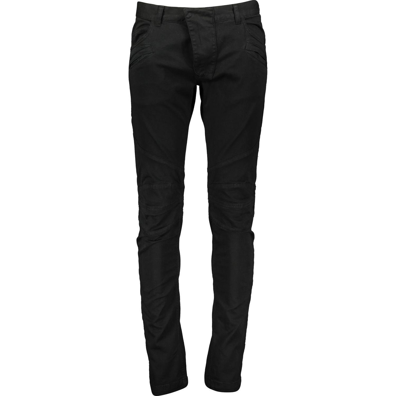 50% di sconto BALMAIN Nero Super Skinny Biker Jeans W32-34 L32 Stretch Denim