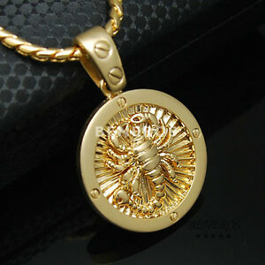Scorpio zodiac scorpions screw pendant necklace mens jewelry 18k image is loading scorpio zodiac scorpions screw pendant necklace mens jewelry mozeypictures Images