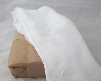 10 Yards Quality 50 Weight Cotton Cheesecloth Craft Gauze Fabric Cheese Cloth