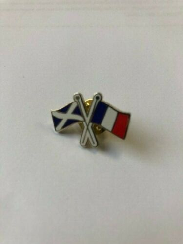 Andrews Saltire Flag Metal Pin Badge Lapel Scottish Crossed French and St
