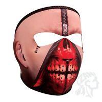 Zipper Face Blood Teeth Neoprene Full Face Mask Atv Biker Paintball Horror Skull
