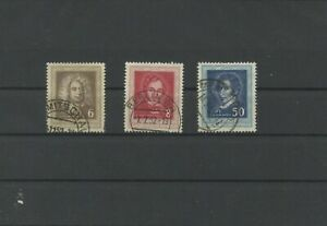Germany-GDR-vintage-yearset-1952-Mi-308-310-Postmarked-Used-More-Sh-Shop-1