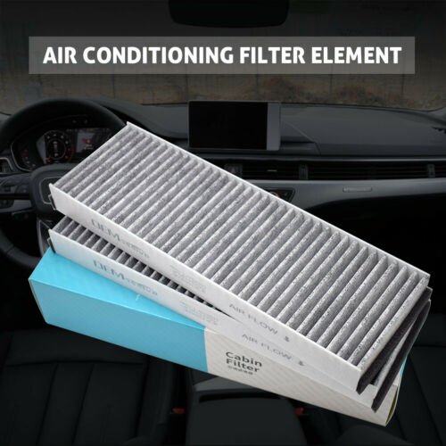 2x Activated Carbon Pollen Cabin Air Filter For Audi A6 R8 4F0819439A 4F0819439B