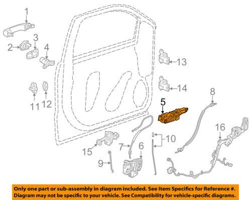GM OEM Front Door-Handle Base Left 13592466