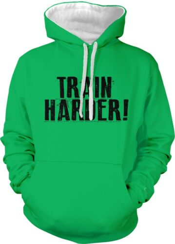 Train Harder Fitness Workout Exercise Healthy Lifting 2-tone Hoodie Pullover