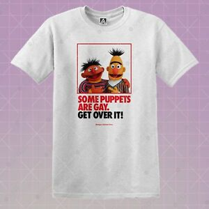 e68d1fe77f50 Ernie Sesame Gay T-shirt LGBT Love Pride Puppet Tee Bert Cookie Over ...