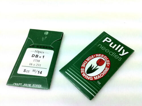 SINGER 10 PULLY INDUSTRIAL SEWING MACHINE NEEDLES DBX1 16X231 FOR BROTHER ETC