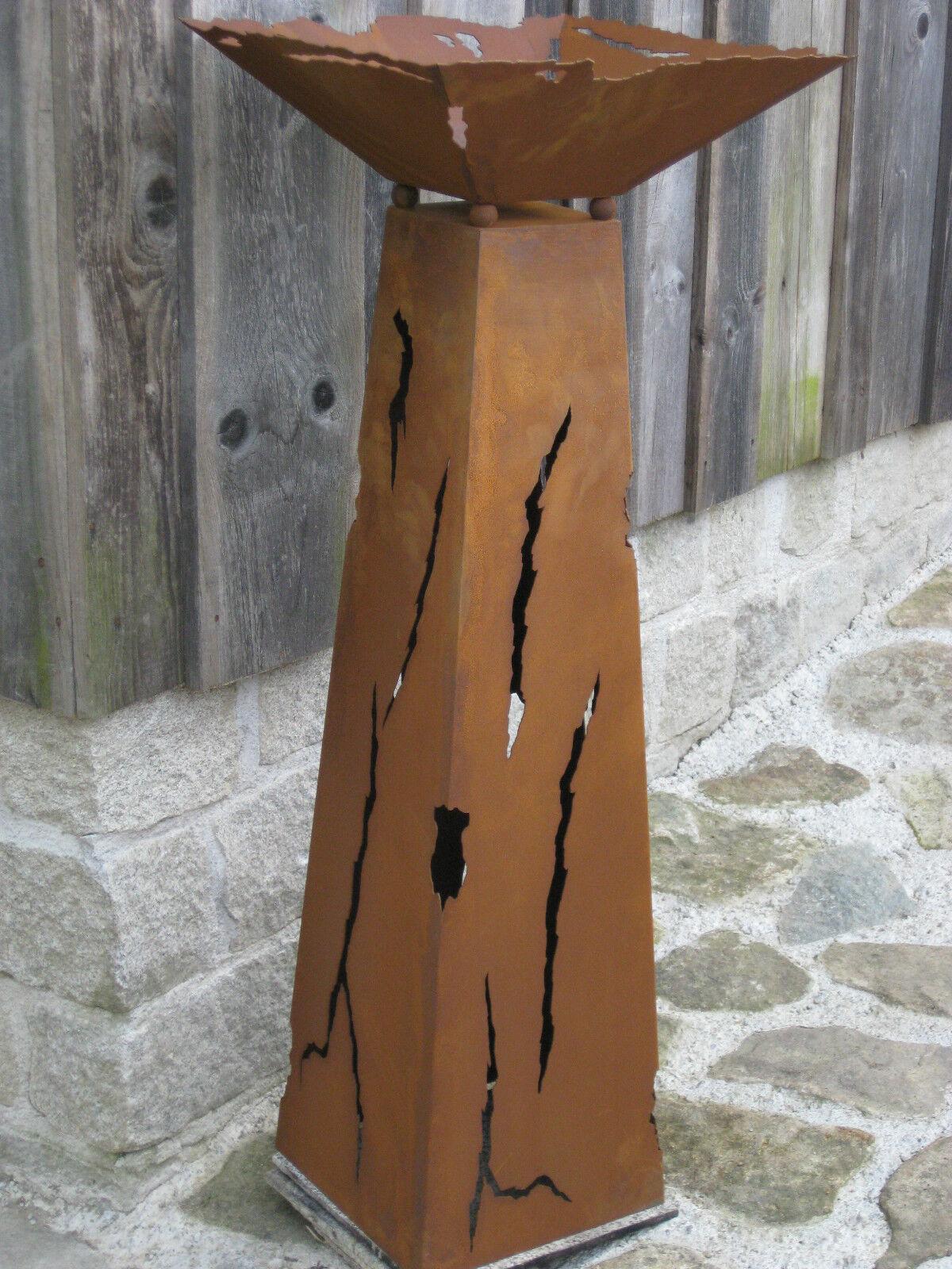 Edelrost rouille pilier rouille tôle patine patine patine STELE Fer Métal OrneHommes t Incl. Coque 95bcc6