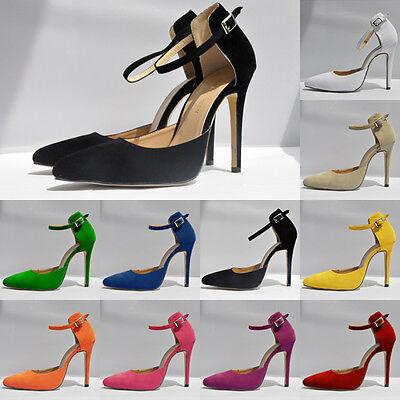 Womens Girls Ladies Fashion Sandals Velvet High Heels Stilettos Shoes UK 2 - 9