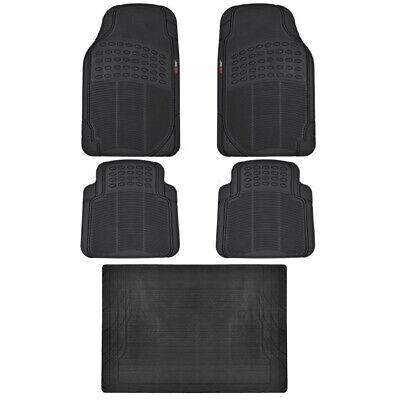 Motor Trend Eco-Tech Car Floor Mats w// Cargo Liner Black 5 Piece Odorless