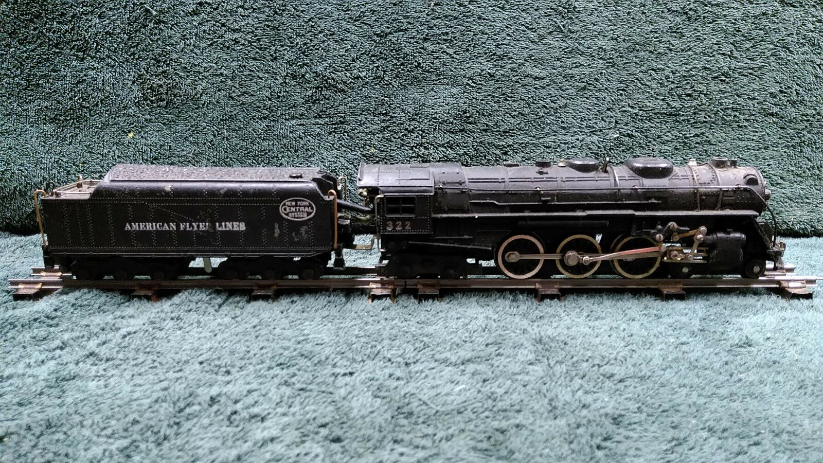 AMERICAN FLYER 322 NYC 4-6-4 HUDSON LOCOMOTIVE & TENDER RECENTLY SERVICED