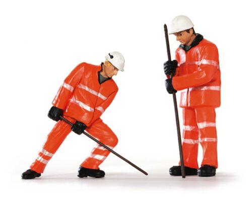"""Bachmann Personnages-Set 22-166 /""""voie ouvrier avec pied de biche/"""" échelle 1:24"""