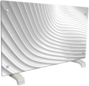 CHEMIN ARTE 115 Radiateur electrique design Wave 2000W, Blanc mural ou sur pieds