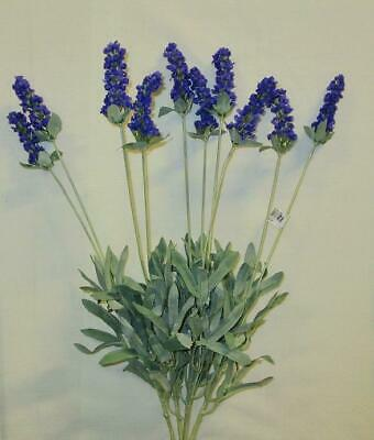 English Lavender Bush Plant 15 Artificial Silk Flowers Ebay