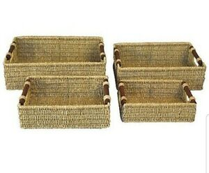 Sea-Grass-Wire-Framed-Kitchen-Storage-Baskets-In-4-Size-Options-Wood-Insert