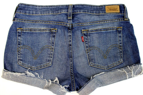 Cut Levis Offf Taglia Jeans Raw 12 Whiskered Mid Donna Orlo Frayed Rise 515 Shorts g1r1qxE