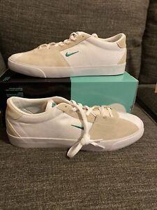 New Nike SB Air Zoom Bruin Edge CD5036-100 White Neptune Green ...