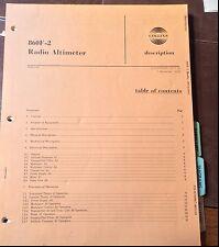 Collins 860F-2 Radio Altimeter Service manual