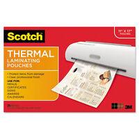 Scotch Menu Size Thermal Laminating Pouches 3 Mil 17 1/2 X 11 1/2 25 Per Pack