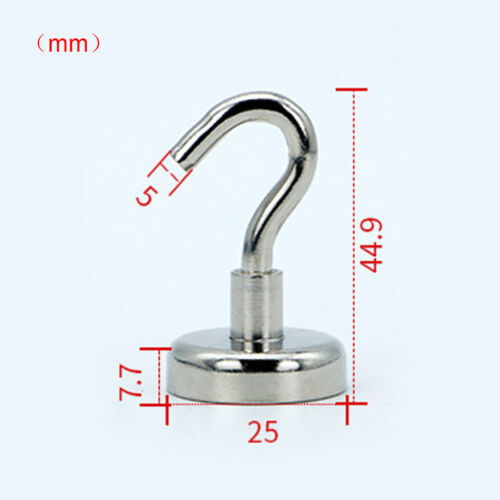 22kg//68kg Neodym Starke Magnethaken Hakenmagnete Magnete Haken D25mm//D42mm