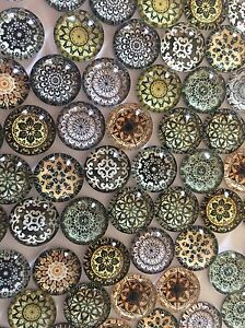 70pcs copper-tone oblate shape charms findings H1898