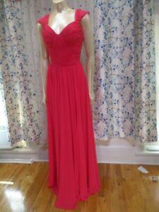 Christina-Wtoo-Bridesmaid-dress-Size-12-Pink-Chiffon-sweetheart-neckline