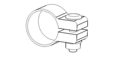 OEM Exhaust Clamp 59.5mm for VW Transporter//Caravelle MK4 MK5 1990-2009