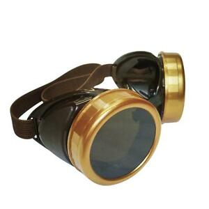 Details About Steampunk Goggles Biker Diy Glasses For Burning Man Welding Costume Accessory