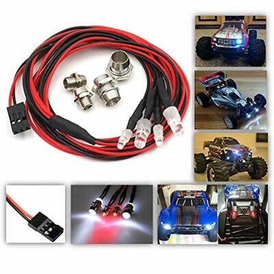2x Red R//C Car Buggy Truck Headlight 10mm LED 2x White PP3 Battery Kit