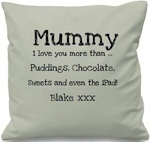 Luxury Personalised Cushion Covers Mummy I Love you More Than Mothers Day Gift