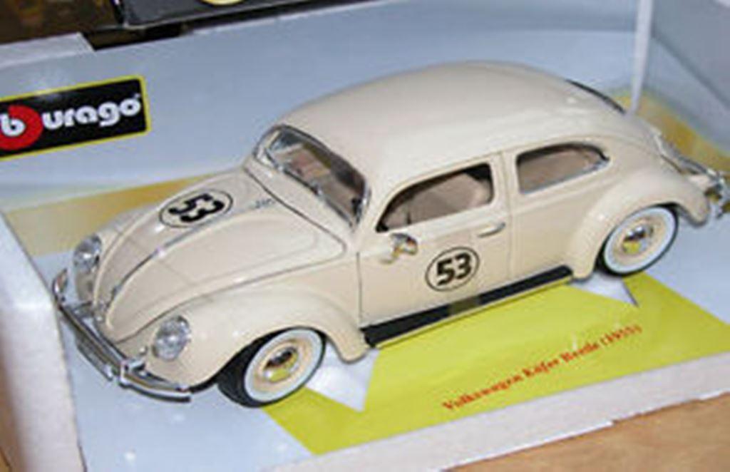 BURAGO Code 3 VW Kafer BEETLE diecast model Herbie No.53 decals 1955 1 18th