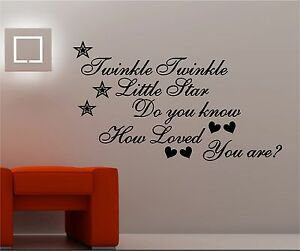 Twinkle-VINILO-PARED-MURAL-DORMITORIO-INFANTIL-FRASE-DO-YOU-KNOW-HOW-Loved-are
