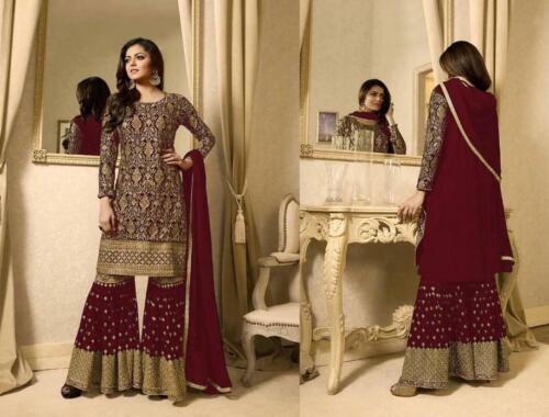 Salwar Kameez Indian Pakistani Suit ethnic Sharara Dress Designer Party Wear AL