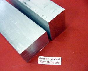 "2 Pieces 2"" X 3"" ALUMINUM 6061 FLAT BAR 5.25"" Long Solid T6511 Mill Stock"