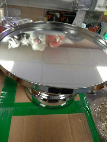 New Silver Stainless Steel Mirror Top Cake Stand