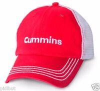 Cummins Dodge Ball Cap Hat Red Embroider Trucker Mesh Summer Cool One Size