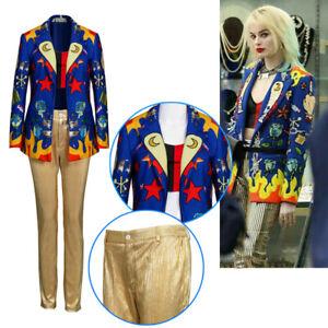 Birds Of Prey Costume Harley Quinn Cosplay Jacket Suit Coat Pants Vest Halloween Ebay