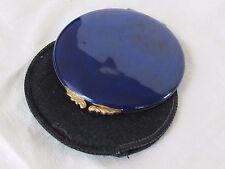 GUCCI Italian VINTAGE Blue enamel Make Up POWDER COMPACT Mirrored Original