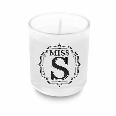 Bombay Duck Monogram Initial Candle Alphabet Letter Votive Personalised Gift