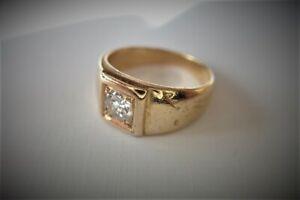 Bague or 18 carat et diamant